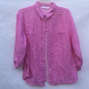 Riders by Lee pink long sleeve button down shirt